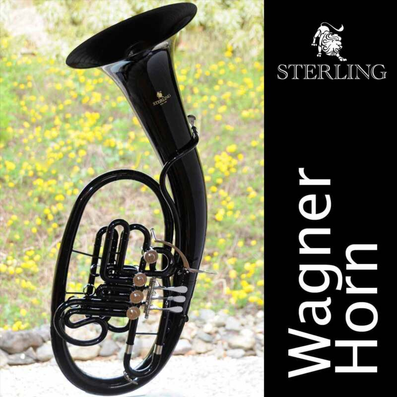 Sterling WAGNER Bb/F HORN • Gloss Black Finish • With Case • BRAND NEW • Pro
