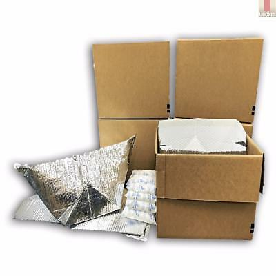 Refrigerator Moving Kit - 5 Boxes Insulated Totes With 10 Gel Packs