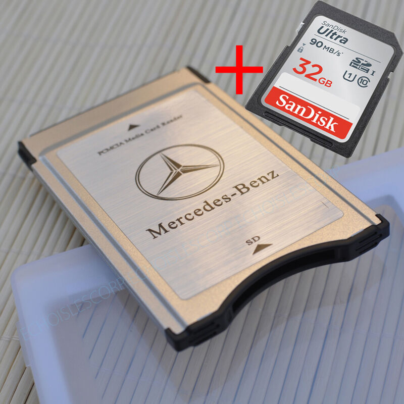 Mercedes-Benz SD to PCMCIA Card Reader Adapter 32 GB Sandisk Utral SDHC C10 Card