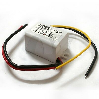 Waterproof Dc-dc Converter 12v Step Down To 5v Power Supply Module 3a 15w White