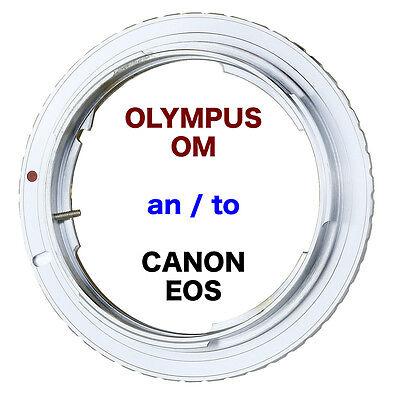 OM- EOS   Olympus OM  Objektiv Lens Adapter an -To Canon EOS Kamera EF Mount  Olympus Om Mount