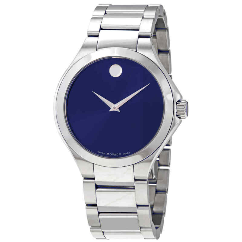 Movado Defio Quartz Blue Dial Stainless Steel Men Watch 0607311