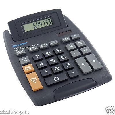 New Jumbo Desktop Calculator 8 Digit Large Button School Home Office Battery