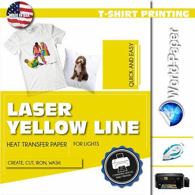 Laser Soft Light-laser Yellow Line Heat Transfer Paper 11x17 10 Sheets