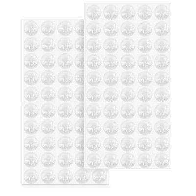 100x Anschlagdämpfer Gummipuffer transparent Schutzpuffer selbstklebend Ø 10mm