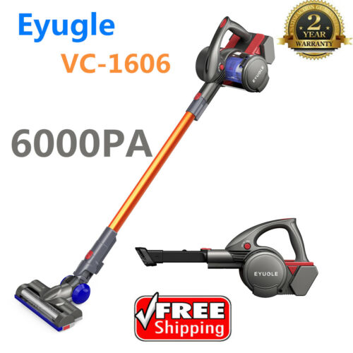 Eyugle VC-1606 2-in-1 Handheld Vacuum Cleaner Cordless Stick