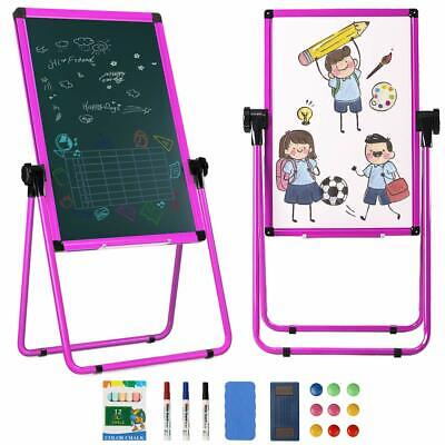 20 X 28 U-stand Portable Magnetic Easel Dry Whiteboard Height Adjustable Pink