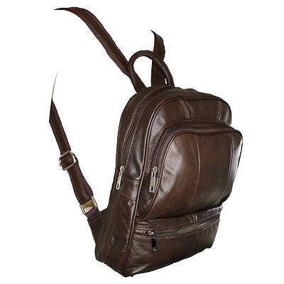 Genuine Leather Backpack Handbag Purse Sling Shoulder Bag Medium -
