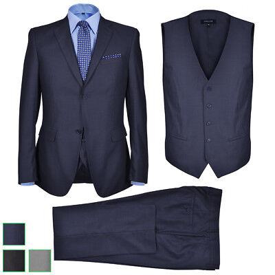 vidaXL 3tlg. Herren Anzug Slim Fit Sakko Hose Hochzeit Smoking Business