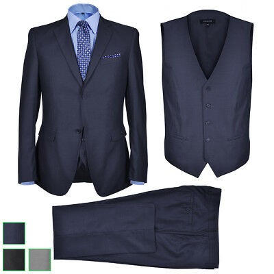 vidaXL 3tlg. Herren Anzug Slim Fit Sakko Hose Hochzeit Smoking Business Gr.46-54