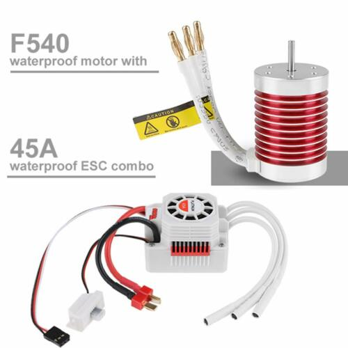 F540 4370KV Brushless Motor With ESC for 1:10 RC Car/Truck Strong 4 Pole