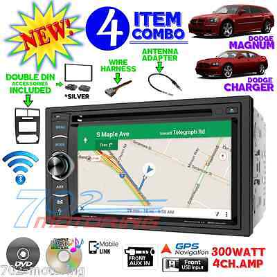 05 06 07 DODGE MAGNUM CHARGER NAVIGATION SILVER DASH KIT RADIO STEREO DOUBLE