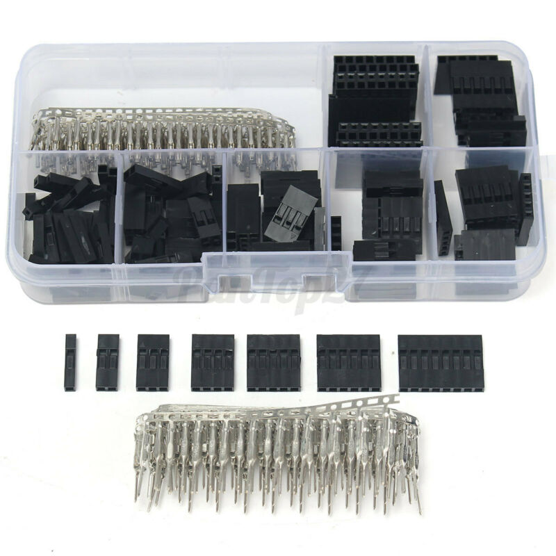 310Pcs Male Female Dupont Wire Jumper W/ Header Connector Housing Kit US  ω