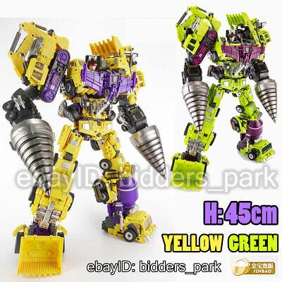 "JINBAO Devastator A+B+C Transformers Hook Mixer 23.6"" Oversized Figure IN BOXES"