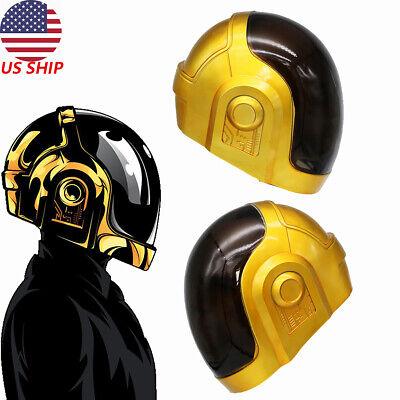 Daft Punk Helmet Cosplay Full Head Mask Costume Prop Replica DJ Music Party Gold