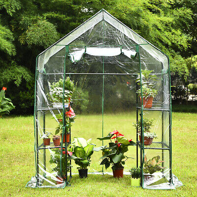 Outdoor&Indoor Portable Mini Walk-In Greenhouse 3 Tiers W/ Sturdy 6 Shelves -