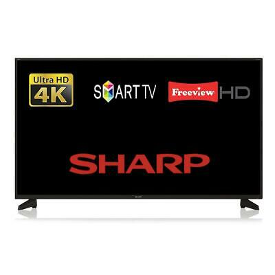 "Sharp 40AJ6IE / 4T-C40AJ6IE1NB 40"" Smart LED TV 4K Ultra HD WiFi Freeview HD"