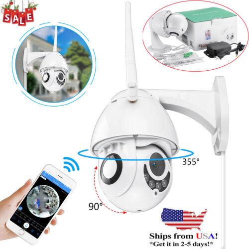 360° Wireless Outdoor IP Camera HD 1080P WiFi 5X ZOOM CCTV Security IR Webcam US
