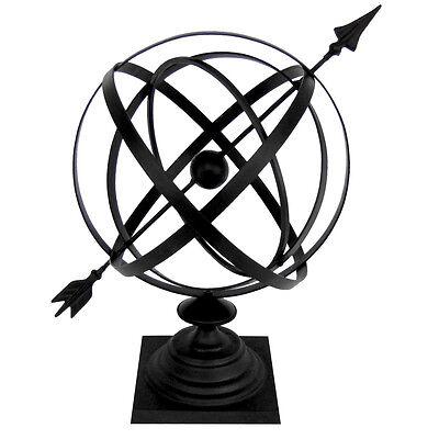 Sundial Cast Iron 24 Armillary Garden Deco Arrow Sphere