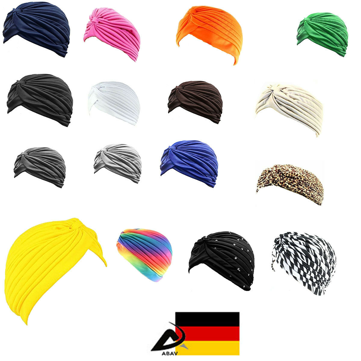 Turban Haarband Haarschmuck Kopfbedeckung Chemo Mütze Damen Hut Tuch Kopftuch