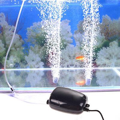 3W Silent High Energy Efficient Oxygen Air Pump For Fish Tank Aquarium Pond uk