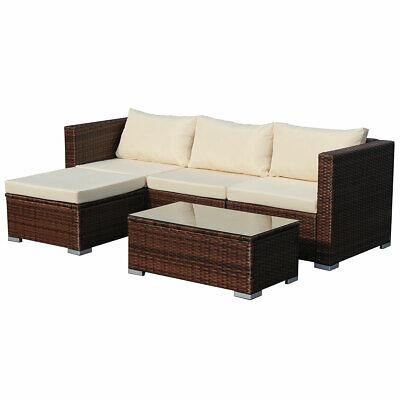 Poly-Rattan Lounge QUEENS Sofa Gartenset Garnitur Polyrattan Gartenmöbel Braun