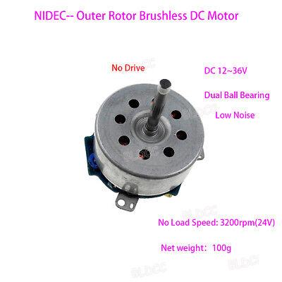 Nidec Dc 12v24v36v Outer Rotor Brushless Motor Dual Ball Bearing Diy Generator