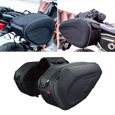 Black oxford Saddle Bags Trunk Luggage Universal Motorcycle waterproof Saddlebag