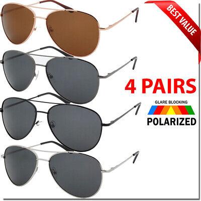 Mens Aviator Polarized Sunglasses Spring Hinge Multi-Color Women Men Glasses New ()