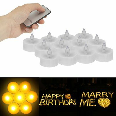 New Flameless Votive Candles Remote Control Flickering Party Decor LED Tea light