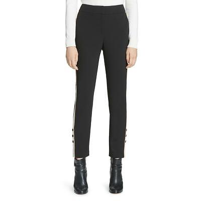 Calvin Klein Womens Side-Stripe High Rise Straight Leg Pants