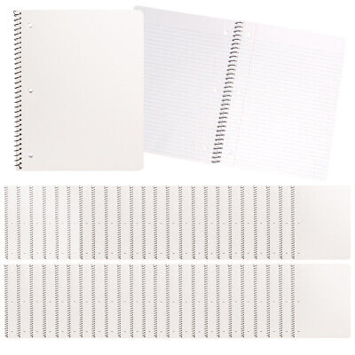 24pk College Ruled Spiral Notebooks Perforated Paper 70pg Journals Bulk Office White Paper Spiral