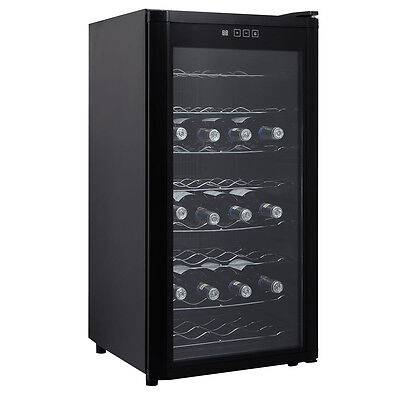New 32 Bottles Wine Cooler Fridge Cellar Storage Holder Chiller Bar Rack Cabinet