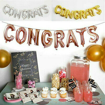 16 inch Letters CONGRATS Foil Balloons Banner Graduation Party Supply Decoration](Congrats Banner)