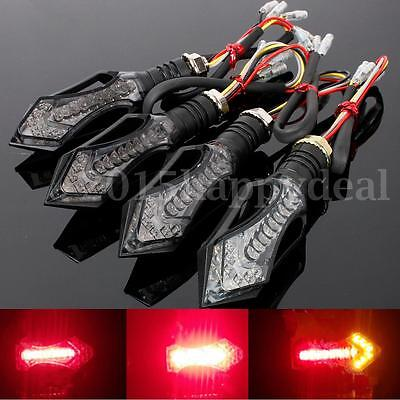 4x 12 LED Universal Motorcycle bike Brake LAMP Turn Signal Indicators Light