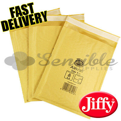 50 x JL1 JIFFY BRANDED PADDED BUBBLE ENVELOPES BAGS GOLD D/1 170x245mm
