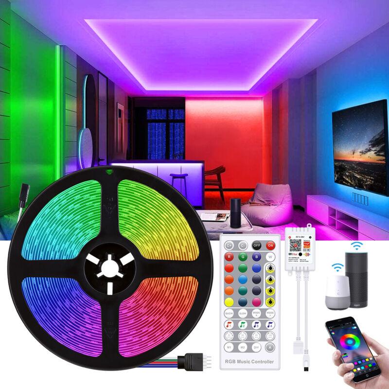 66Ft 50Ft 10m RGB LED Strip Lights 5050 + IR/Bluetooth/WiFi Controller Light Kit