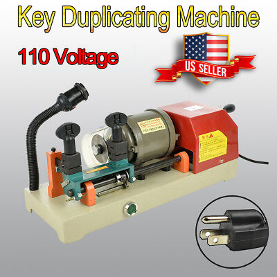 110v Key Duplicating Machine Door Car Key Copy Machine Cutter Locksmith Set Usa