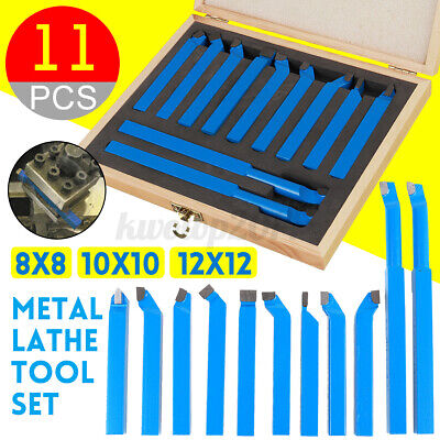 11pcs 81012mm Metal Carbide Lathe Tool Set Cutting Turning Boring Cnc Bit