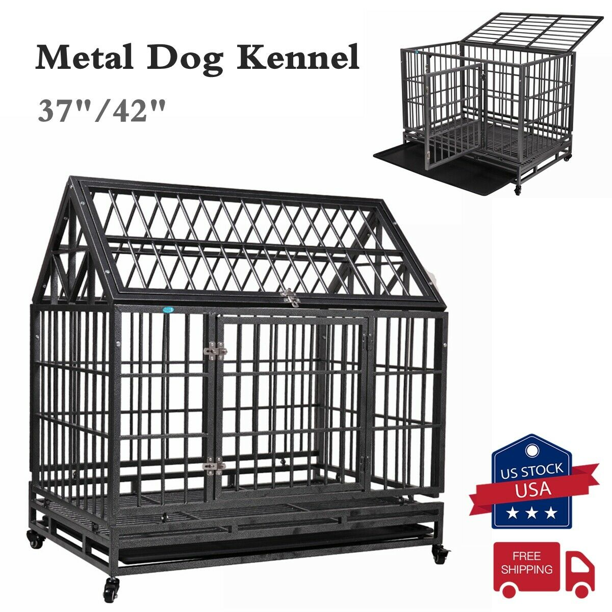 37 42 dog crate large kennel cage