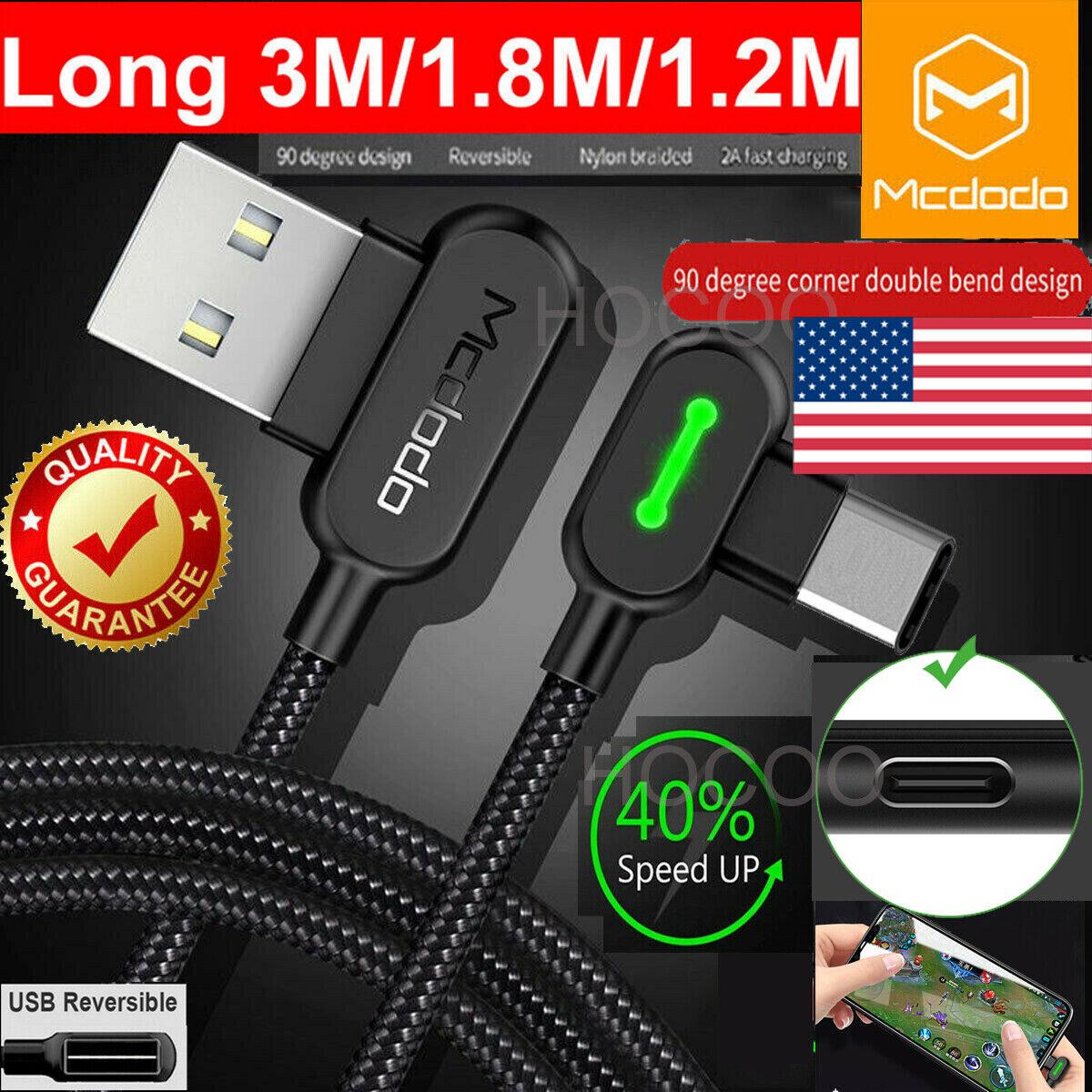 3M Extension Long Length Mcdodo USB-C Type C FAST Charging S