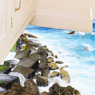 3D Removable Coast Floor Wall Sticker Mural Decal Vinyl Art Living Room Decor US