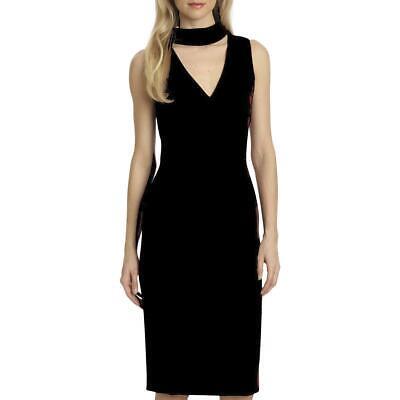 Badgley Mischka Simone Women's Choker V-Neck Cocktail Dress