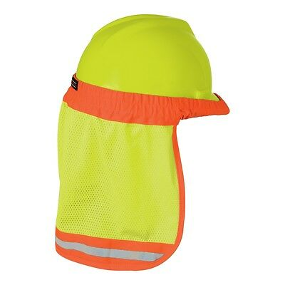 Ml Kishigo Reflective Hard Hat Sun Shield Brim With Neck Shade - Yellowlime