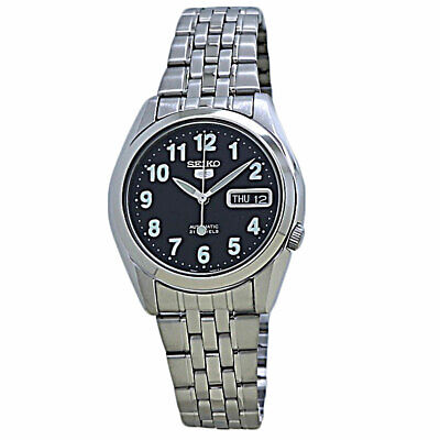 Seiko 5 Automatic Black Dial Stainless Steel Men's Watch SNK381