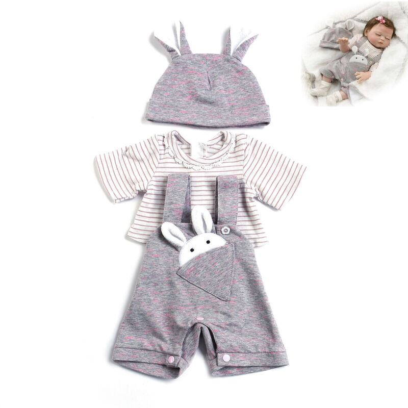 Reborn Doll Outfits Accessories Soft Newborn Baby Dolls Clothes Set 20 inch Doll
