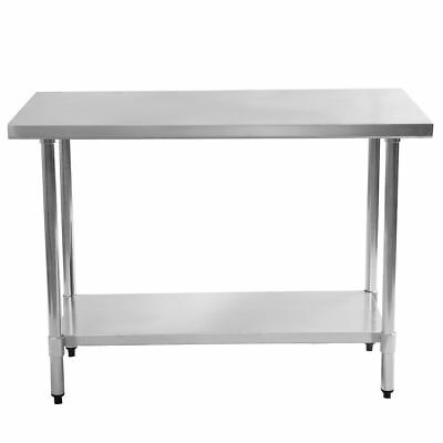 30x48 Stainless Steel Kitchen Food Prep Work Table Commercial Restaurant Shelf