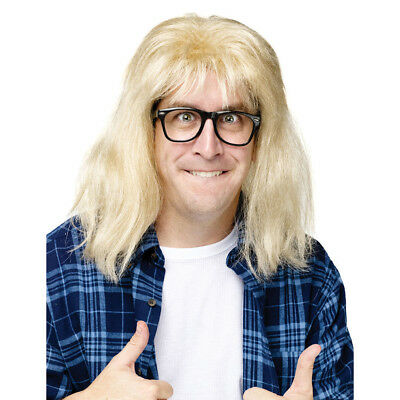 Waynes World Wig (SNL Waynes World Garth Algar Wig & Glasses Costume Accessory Kit FUNWORLD)
