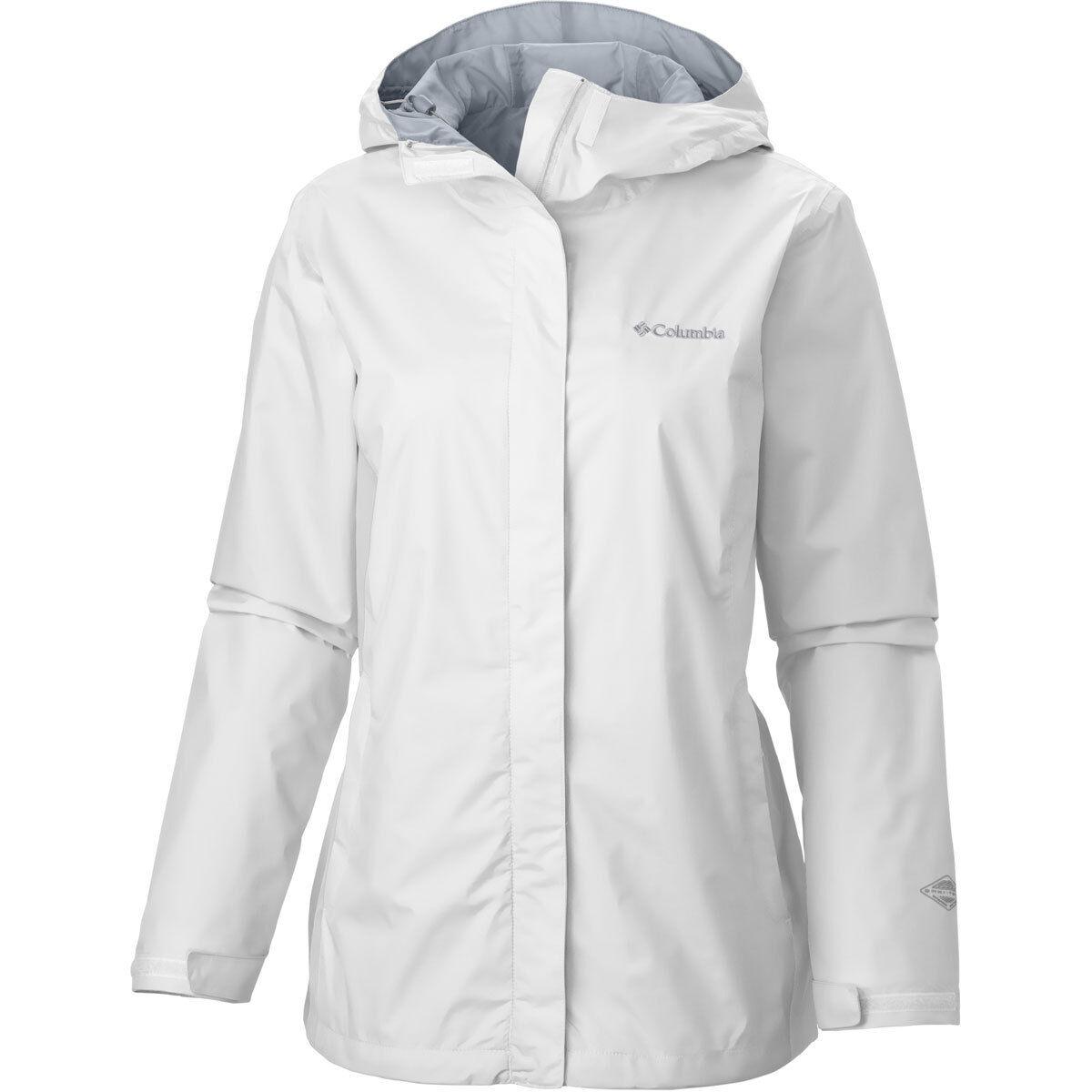 Columbia Arcadia II Rain Jacket Women's 1X  Hooded White/