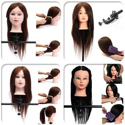 "100% Hair 22"" Salon Hairdressing Practice Training Head M..."